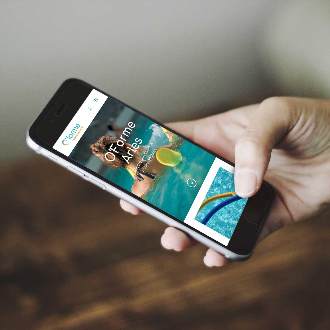 site internet oForme sur smartphone