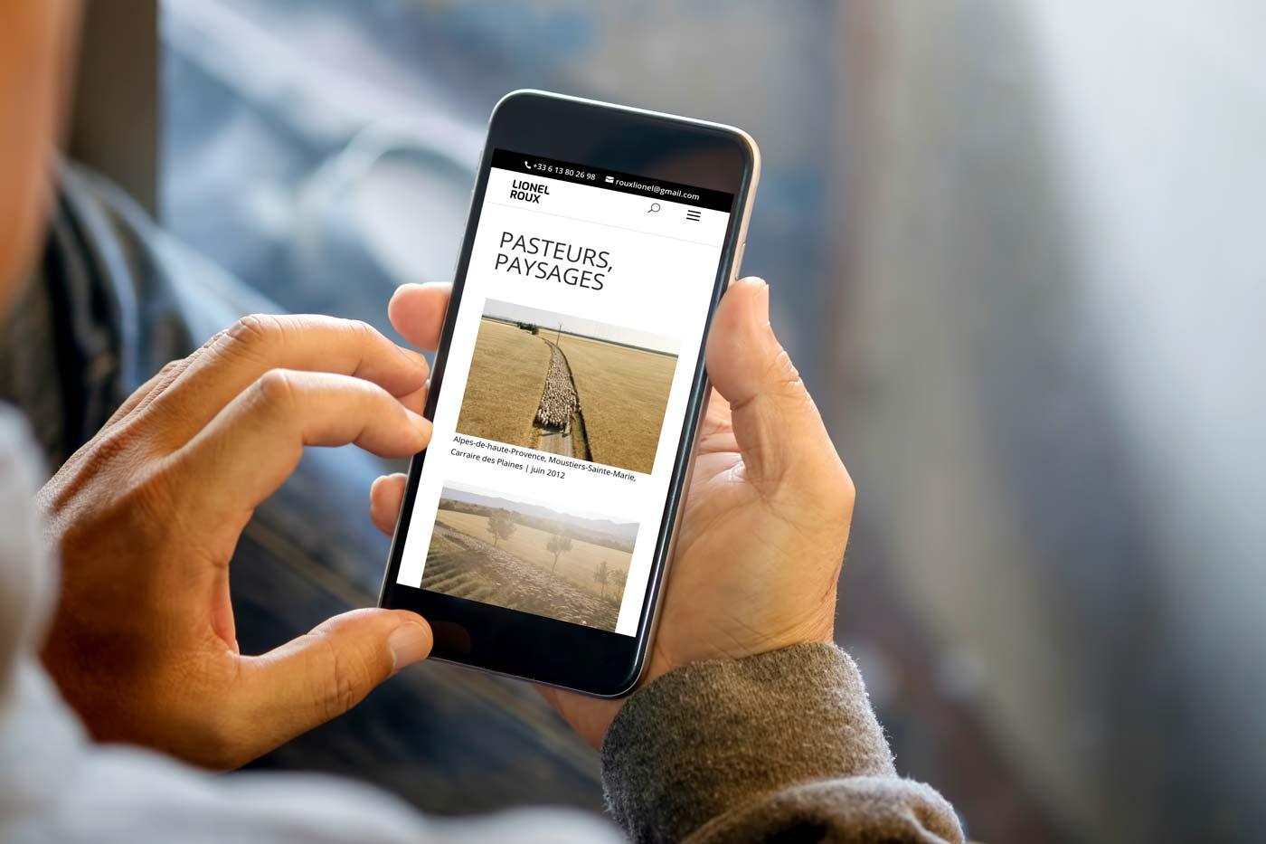 Site internet de Lionel Roux en version iPhone